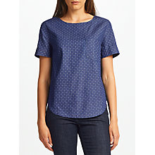 Buy Collection WEEKEND by John Lewis Ditsy Denim Top, Blue Online at johnlewis.com