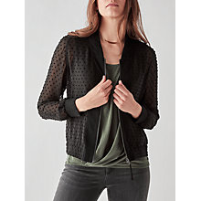 Buy Numph Adriene Bomber Jacket, Caviar Online at johnlewis.com