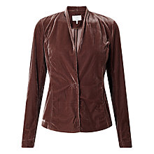 Buy Numph Elishia Velvet Blazer, Deep Taupe Online at johnlewis.com