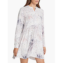 Buy Minimum Birgita Printed Dress, White Online at johnlewis.com