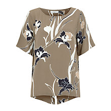 Buy Minimum Janika Printed Top, Olive Night Online at johnlewis.com