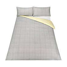 Buy House by John Lewis Graph Dandelion Duvet Cover and Pillowcase Set, Grey/Citrine Online at johnlewis.com