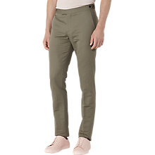 Buy Reiss Bank Linen Chino Trousers, Khaki Online at johnlewis.com