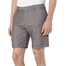 Buy Reiss Meadow Linen and Cotton Shorts, Grey Online at johnlewis.com