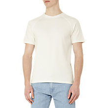 Buy Reiss Byron Waffle Weave T-Shirt, White Online at johnlewis.com