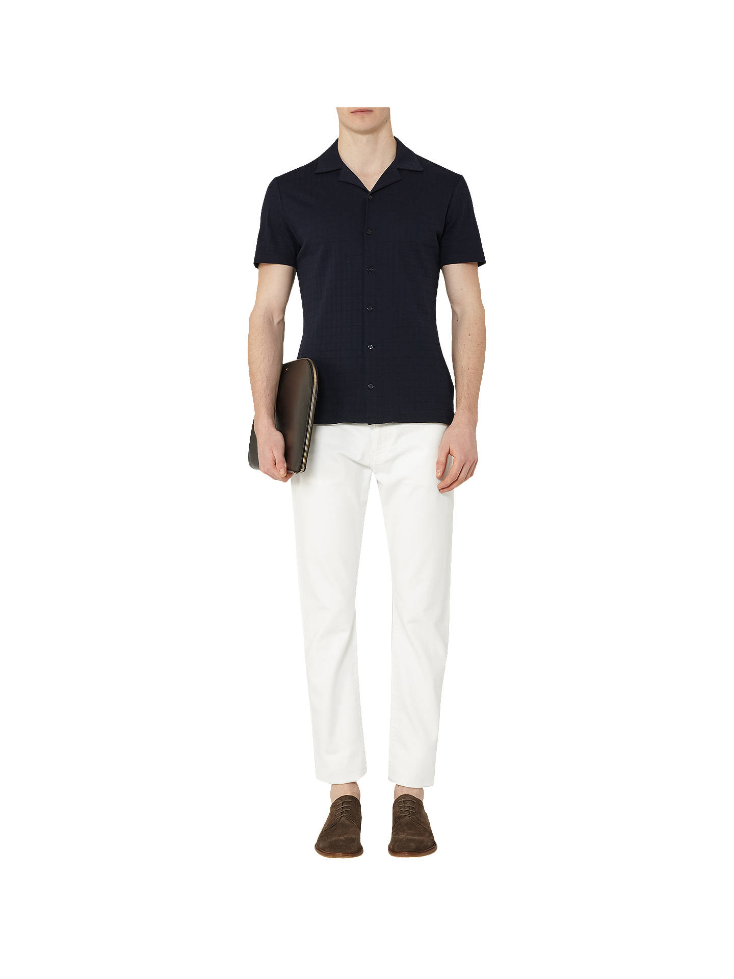 Buy Reiss Woolcombe Slim-Fit Jeans, Off White, 28R Online at johnlewis.com