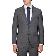 Buy Hackett London Prince of Wales Check Regular Fit Suit Jacket, Grey Online at johnlewis.com