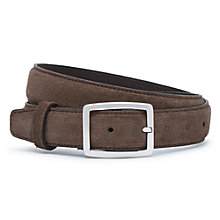 Buy Reiss Nierman Suede Belt, Stone Online at johnlewis.com