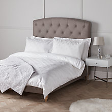 Buy John Lewis Amelia 500 Thread Count Cotton Jacquard Duvet Cover and Pillowcase Set, White Online at johnlewis.com
