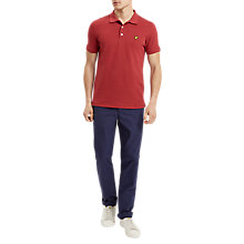 Buy Lyle & Scott Garment Dye Polo Shirt, Pomegranate Online at johnlewis.com
