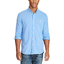 Buy Polo Ralph Lauren Classic Fit Cotton Mesh Shirt, Harbor Island Blue Online at johnlewis.com