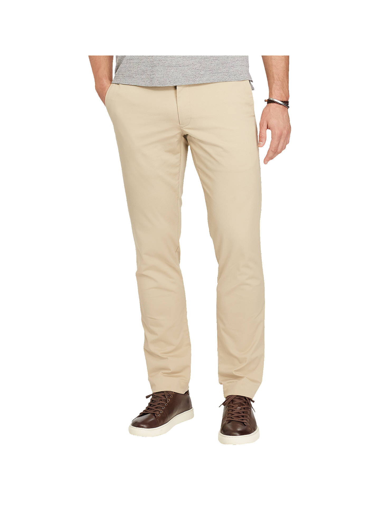 379b5c93 Polo Ralph Lauren Hudson Slim Fit Stretch Cotton Trousers, Classic Khaki
