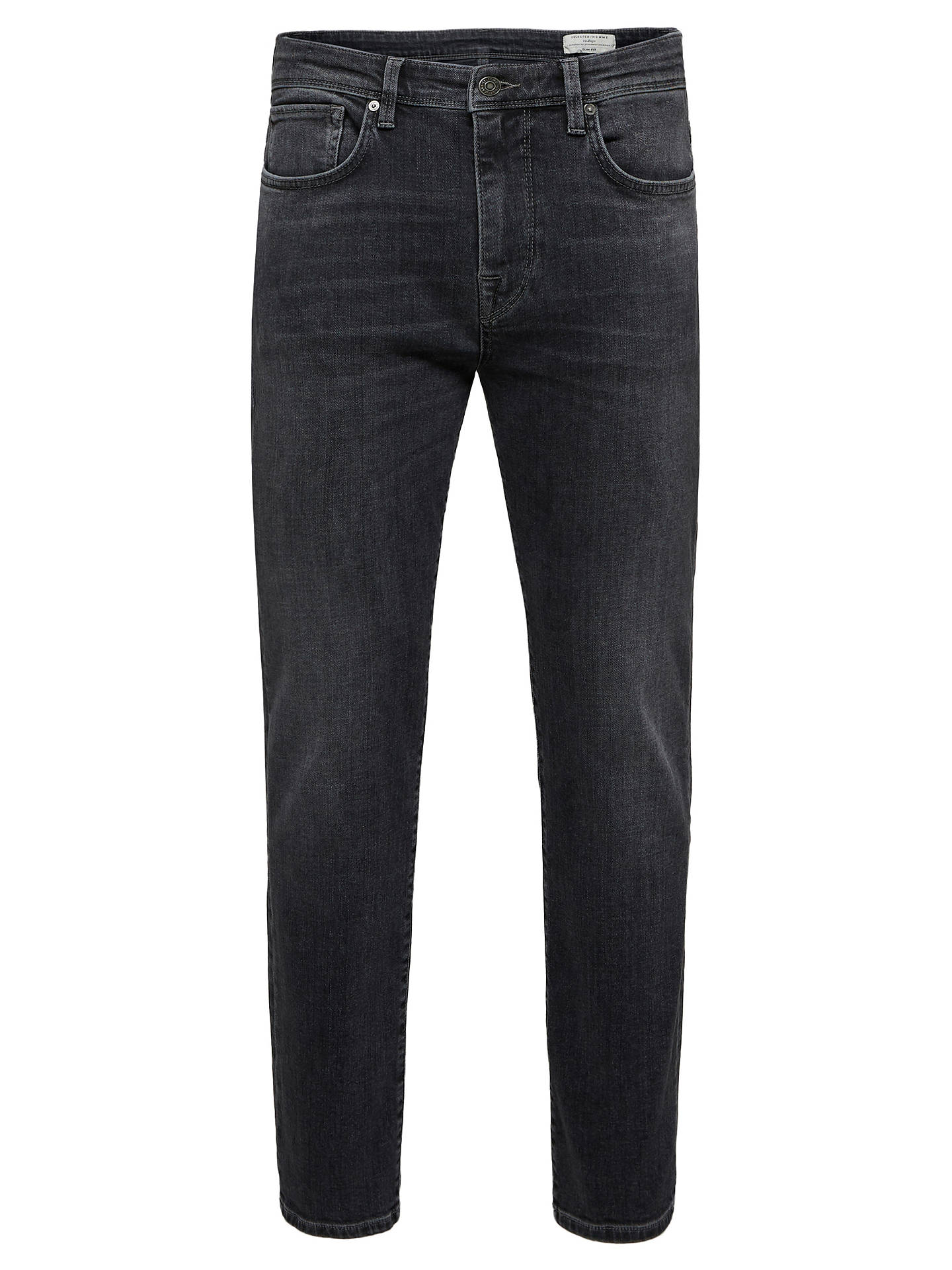 BuySelected Homme Leon Fit Denim Jeans, Grey, 30S Online at johnlewis.com