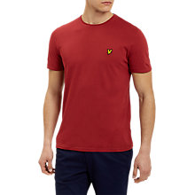 Buy Lyle & Scott Plain Pick Stitch T-Shirt, Pomegranate Online at johnlewis.com