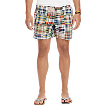 Buy Polo Ralph Lauren Classic Fit Polo Prepster Shorts, Madras/Chambray Online at johnlewis.com