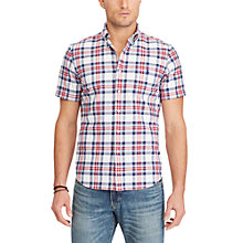 Buy Polo Ralph Lauren Oxford Check Short Sleeve Shirt Online at johnlewis.com