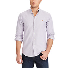 Buy Polo Ralph Lauren Slim Fit Cotton Poplin Shirt, Concord/White Online at johnlewis.com