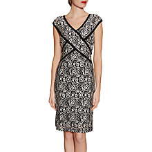 Buy Gina Bacconi Stretch Floral Lace Dress, Black Online at johnlewis.com