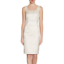 Buy Gina Bacconi Metallic Jacquard Beaded Dress, Ivory Online at johnlewis.com