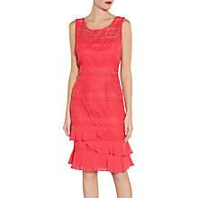 Buy Gina Bacconi Lace Dress With Chiffon Frill And Scarf Online at johnlewis.com