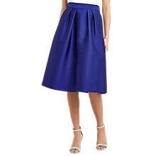 Buy Oasis Satin Twill Midi Skirt, Cobalt Blue Online at johnlewis.com