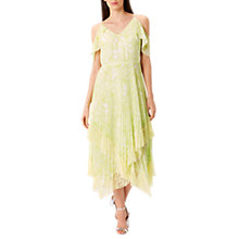 Buy Coast Jamie Printed Dress, Lime Online at johnlewis.com
