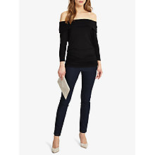 Buy Phase Eight Bridget Bardot Top, Black Online at johnlewis.com