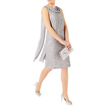 Buy Jacques Vert Lace Drape Cape Dress, Grey Online at johnlewis.com