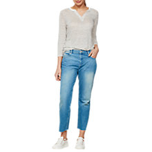 Buy Mint Velvet Montana Embroidered Jeans, Dark Blue Online at johnlewis.com