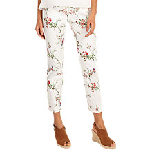 Buy Phase Eight Hummingbird Print Trousers, White/Multi Online at johnlewis.com