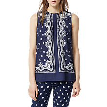 Buy Warehouse Bandana Print Shell Top, Navy Online at johnlewis.com
