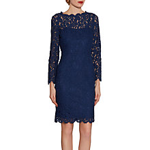 Buy Gina Bacconi Lace Dress With Jewelled Flower Buttons Online at johnlewis.com
