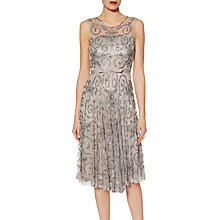 Buy Gina Bacconi Beaded Dress With Belt, Silver Online at johnlewis.com