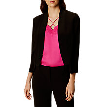 Buy Karen Millen Open Front Tailored Jacket, Black Online at johnlewis.com
