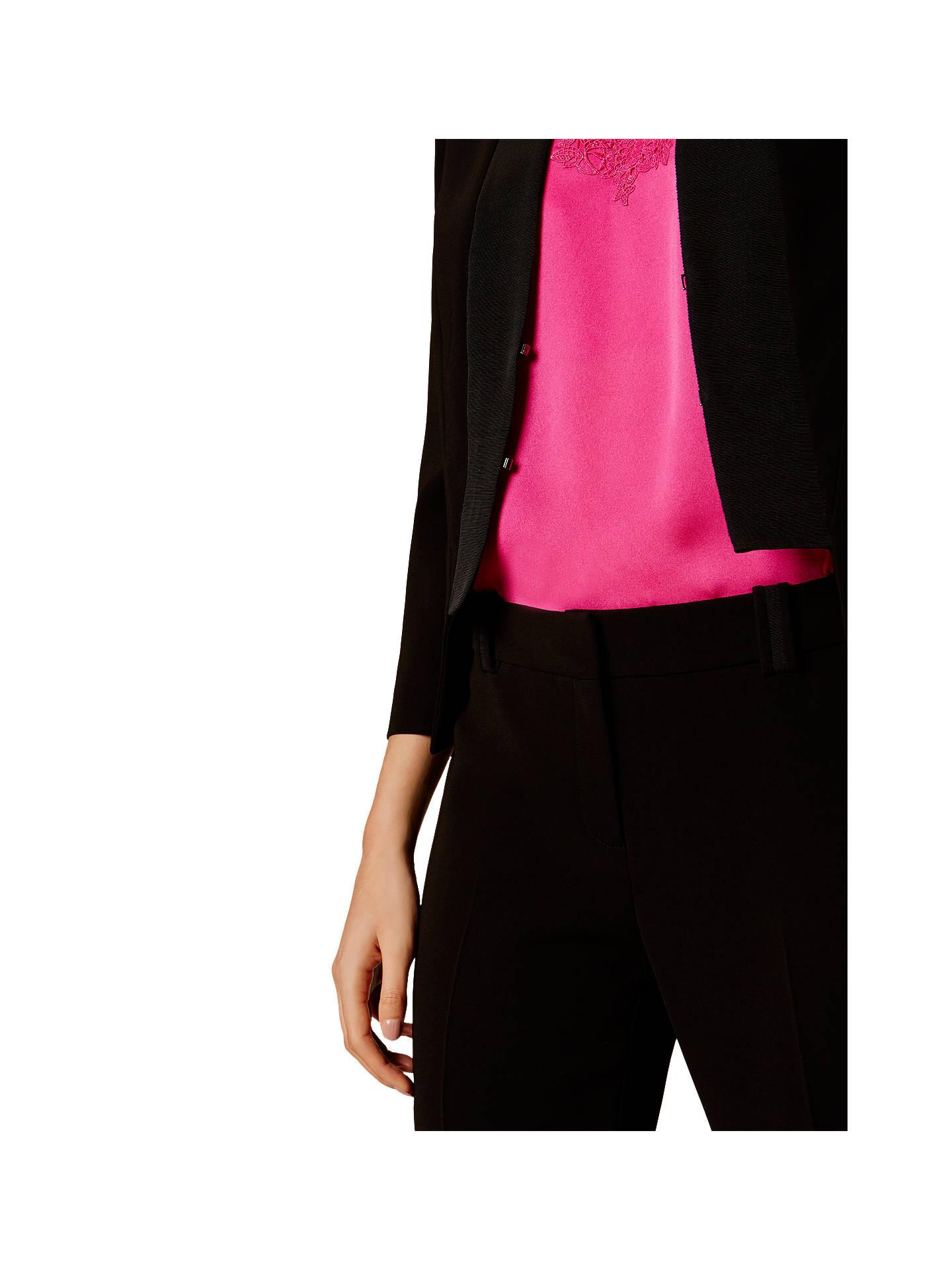Karen Millen Open Front Tailored Jacket, Black at John Lewis