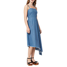 Buy Warehouse Denim Asymmetric Dress, Mid Wash Denim Online at johnlewis.com