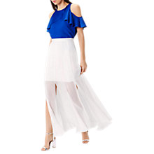 Buy Coast Cuba Split Maxi Skirt, White Online at johnlewis.com