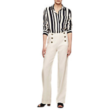 Buy Gerard Darel Tova Linen Trousers, Beige Online at johnlewis.com