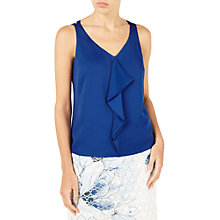 Buy Jacques Vert Frill Front Vest Top, Dark Blue Online at johnlewis.com
