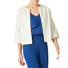 Buy Jacques Vert Lace Jacket, Light Neutral Online at johnlewis.com
