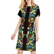 Buy Oasis Tropical Print Cold Shoulder Dress Online at johnlewis.com