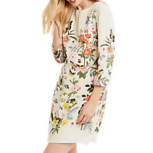 Buy Oasis Amelia Placement Shift Dress, Off White Online at johnlewis.com