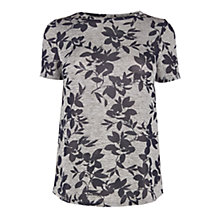 Buy Oasis Spring Floral Print T-Shirt, Grey/Multi Online at johnlewis.com