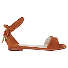 Buy Karen Millen Eyelet Flat Sandals, Tan Online at johnlewis.com
