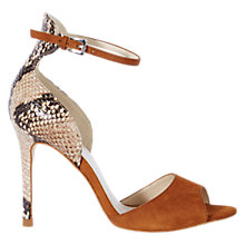 Buy Karen Millen Leather and Suede Stiletto Sandals, Tan Online at johnlewis.com