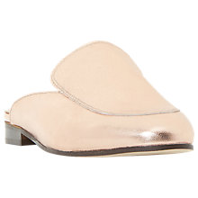 Buy Dune Black Guilde Mule Loafers, Rose Gold Online at johnlewis.com