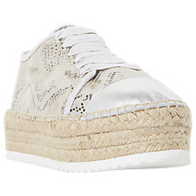 Buy Dune Favour Espadrille Flatform Trainers, Natural Online at johnlewis.com
