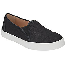 Buy John Lewis Echo Slip On Trainers, Metallic Online at johnlewis.com