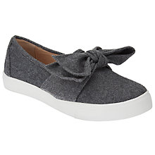 Buy John Lewis Erina Bow Slip On Trainers, Grey Online at johnlewis.com