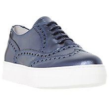 Buy Dune Black Edun Brogue Flatform Trainers Online at johnlewis.com